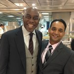 Meeting the celebrity Chef Ainsley Harriott