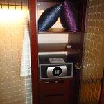 Safe inside closet