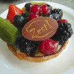 individual fruit tart for dessert