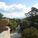 View towards Portoferraio from the upper deck outside the Villa