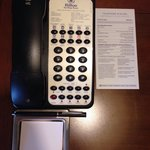 Phone note pad and extension numbers