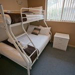 Some spa apartments have a trilogy bunk in 2nd bedroom