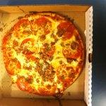 Small sized GF pizza, so yummy!