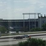 View of Kauffman Stadium from our room