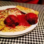 Eggplant and meatballs