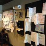 Maureen and Dave love it when kids draw and hang their creations up on the wall!