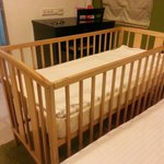 Baby bed provided by the staff