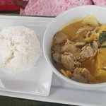 Pineapple curry beef