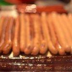 Les saucisses en train de cuire !!!!