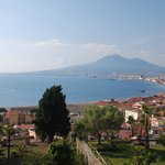 View from our room overlooking Bay of Naples & Vesuvius