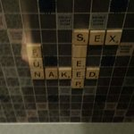 Scrabble art work, in case you need some ideas
