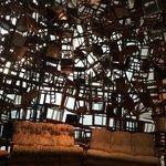 Manarat Sadyat. Room made of chairs.