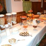 Breakfast spread which they prepared at 6:30am for us.