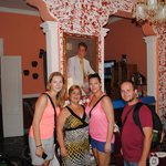 Leaving the hostal - photo with Vicky