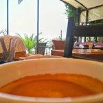 Lecker frischer gepresster Kaffee