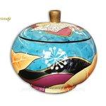 lacquer decorative jar