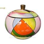 lacquer decorative jar hand painted design