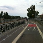 Bicycles lanes all over the city