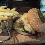 Cheeseburger and chips £13.00