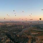 Hot Air Balloon view in Cappadocia