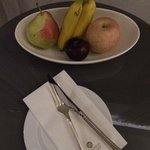 Bowl of fruits upon check in