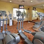 Stay fit while on the road with our on-site fitness center!
