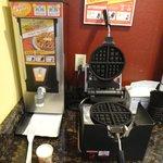 Cute waffle machine.