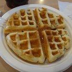 """Amazing """"handmade"""" waffle."""