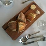 Bread for starters. Excellent herb butter.