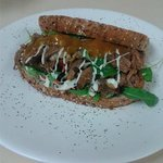 Open Lamb Sandwich