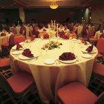 Holiday Inn Banquet Room Dinner Setup