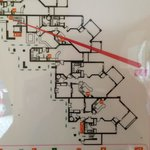 Fire escape plan gives idea of room layouts