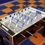 Our Sports Deck offers fun for the family with a foosball table.