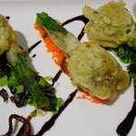 filled zucchini flowers with 4 cheeses