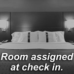 Standard guest room assigned at check in