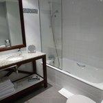 Large, clean bathroom