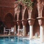 Bouganvilla Bushes around the pool