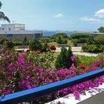 Hotel room balcony view