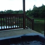 View from the hot tub of lodge 7
