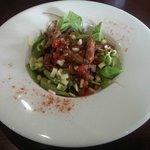 Stripped sirloin salad