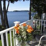 Balcony view from Mason Adirondack Room