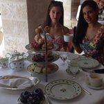 Me and my sis at tea!
