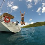 Great day aboard the Dell Rose sailing to Jost Van Dyke.