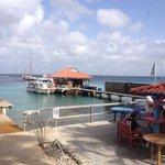 Boat dock and sun bathing at DIVI Dive, Bonaire!