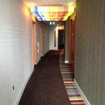 hallway with light censors