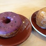 blueberry and glazed cronuts