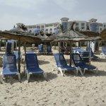 Strandbedjes zijn gratis