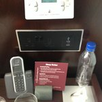 Room has phone, temp control and USB charging port