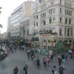 O hotel e a praça