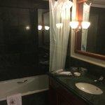 Bathroom in Room No. 301 - bathtub with curtain :-(
